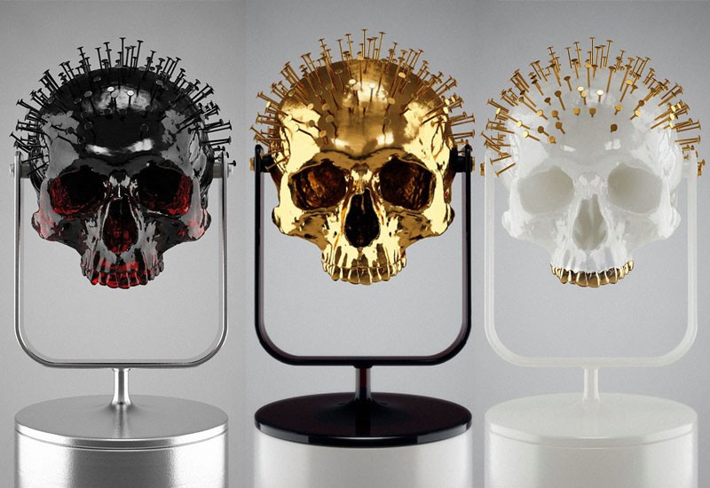 Skull-ptures by Hedi Xandt