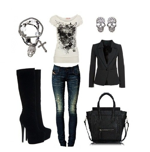 40 skull outfit ideas