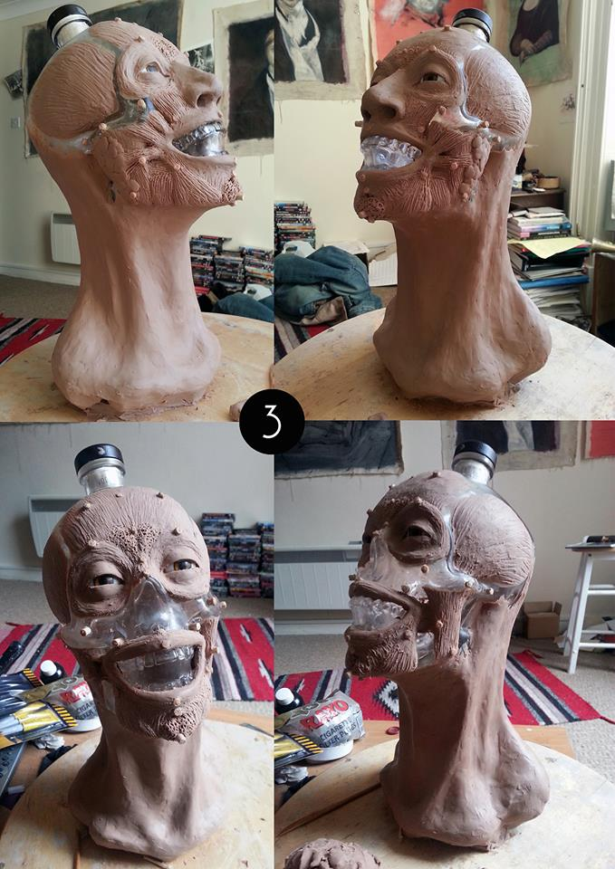 reconstruction of a Crystal Head Vodka skull