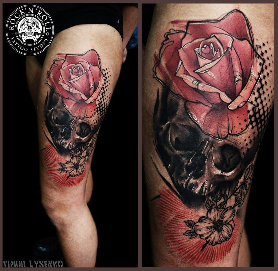 skull tattoos by Timur Lysenko