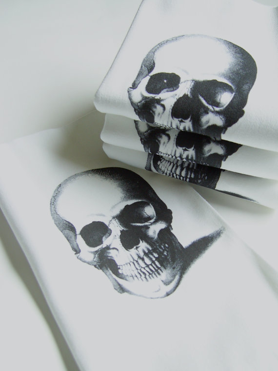 Skull Napkins by Nicole Porter