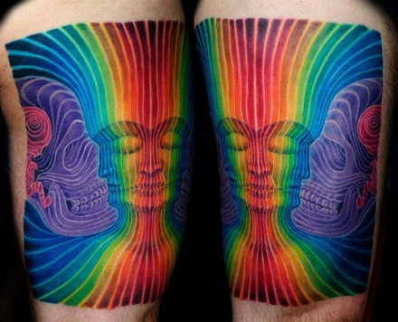 Tattoos inspired by Alex Grey's Interbeing
