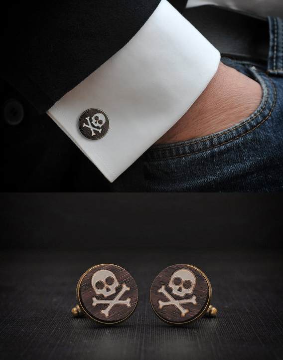 Skull Cufflinks by Goth Chic (2)