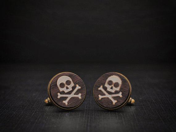 Skull Cufflinks by Goth Chic