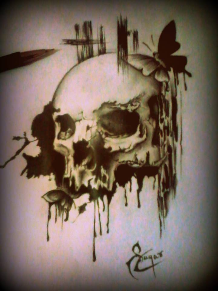 Skull illustrations by Sagar Anil