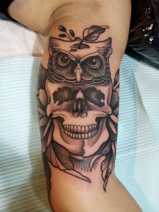 Skull tattoos by F Cheung (2)