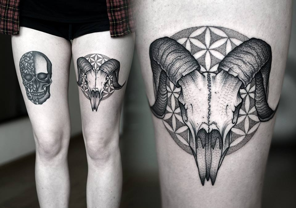 Animal skull tattoo designs (2)
