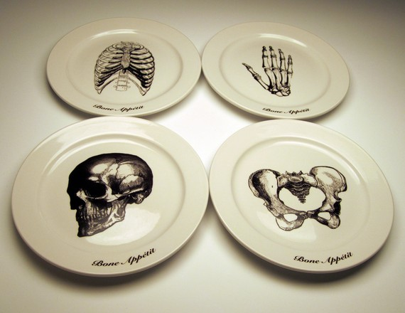 Bone Appetit Anatomical plates and bowls