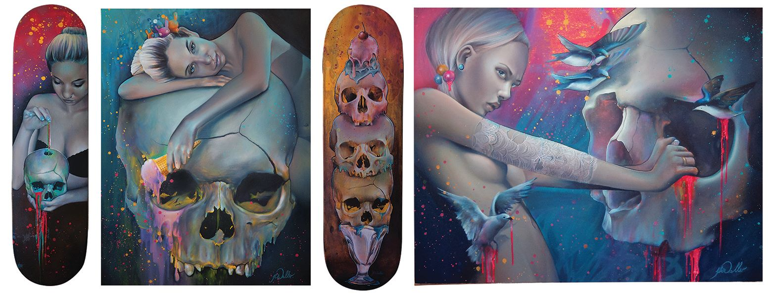 Skull Paintings by Jade Doreen Waller (3)