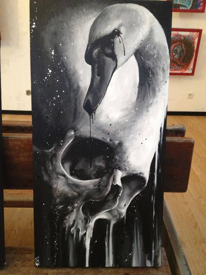 Skull painting by Florian Karg