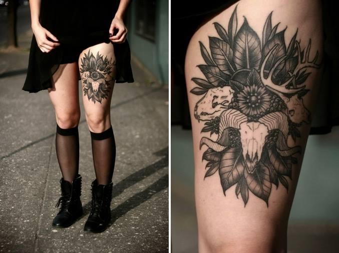 animal skulls tattoo