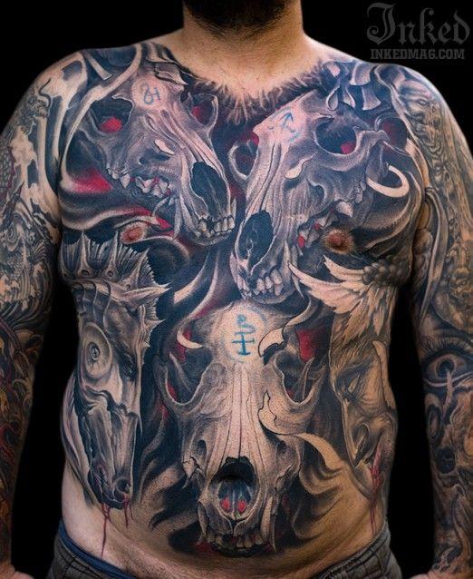 60 Animal Skull Tattoo Designs