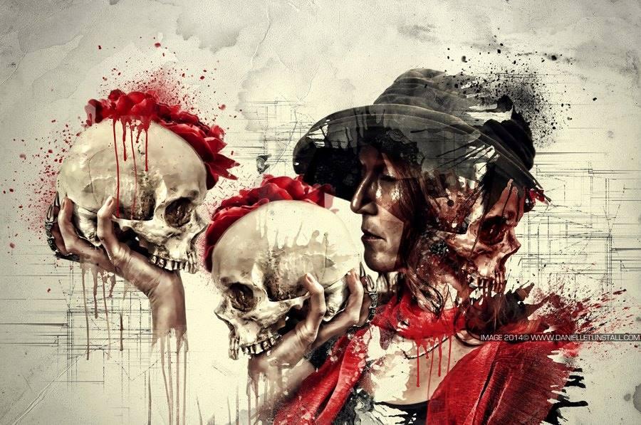 Skull Artworks by Danielle Tunstall