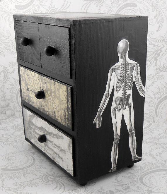 Skull Vintage Jewelry Box (2)