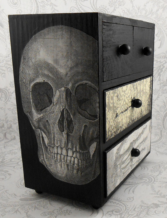 Skull Vintage Jewelry Box