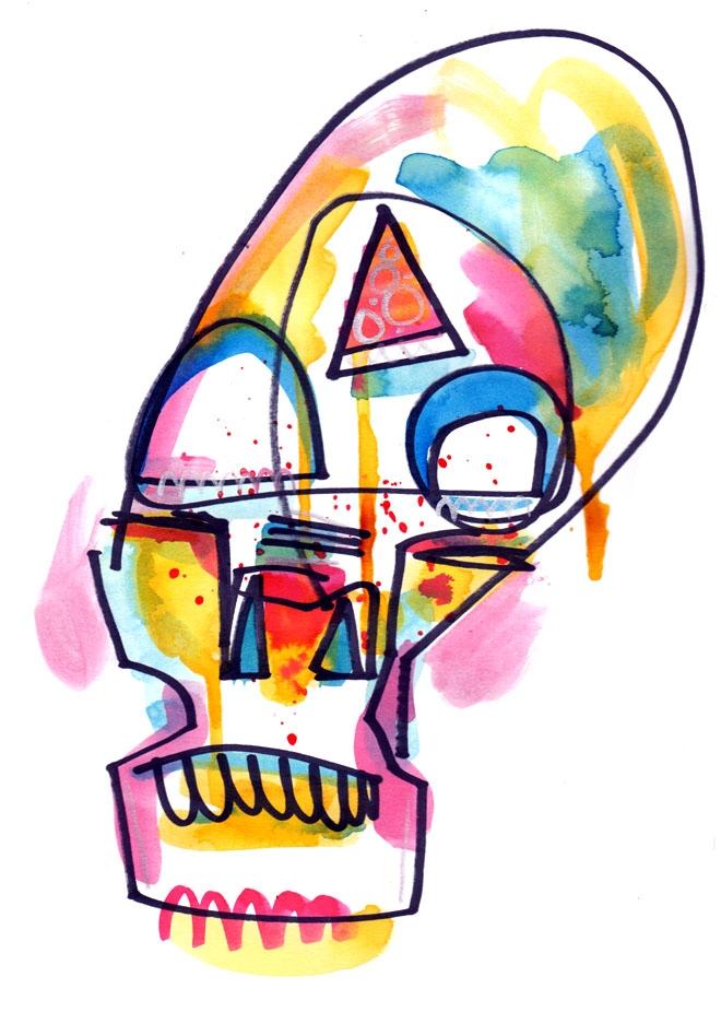 Pizza Skull by Jon Burgerman (2)