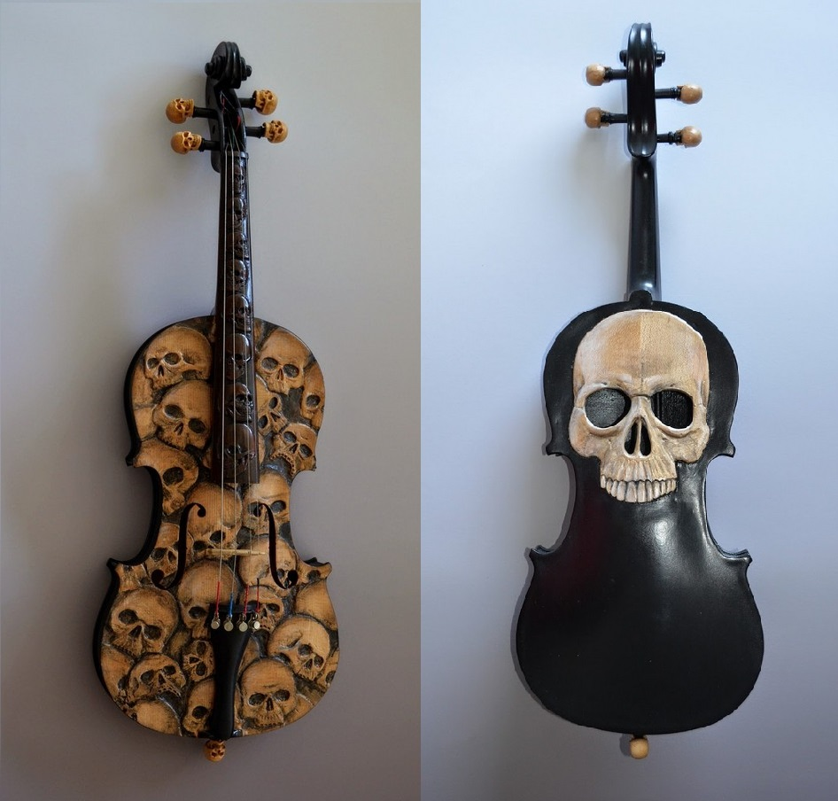 Skull Violin by Mark Noll (2)