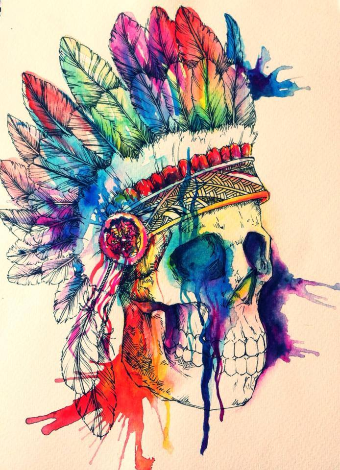 Skull Watercolor Illustration (2)