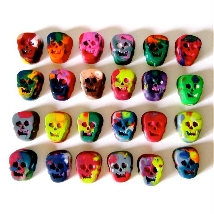 Skull Rainbow Crayons (2)