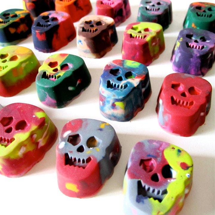 Skull Rainbow Crayons