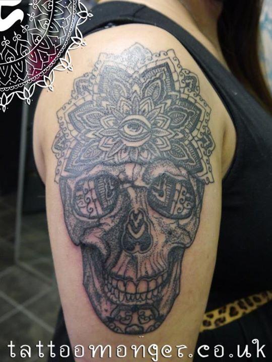 Skull Tattoo by David Barclay (2)