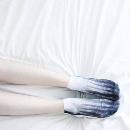 X-Ray Skeleton Socks