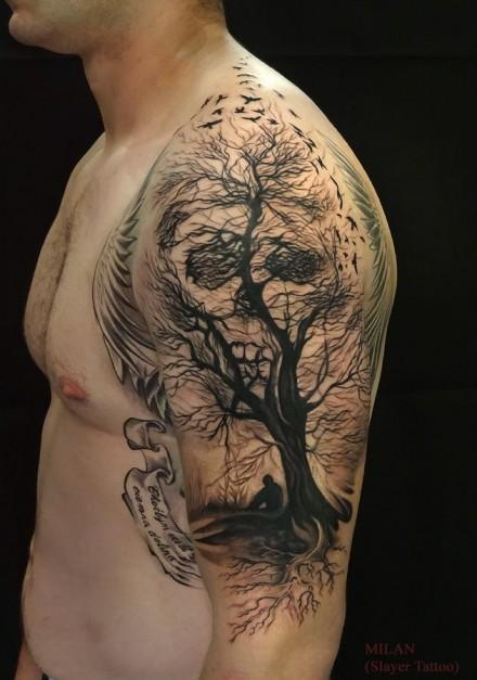 skull tattoos by Milan