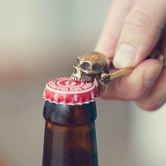 Biting Skull Bottle Opener