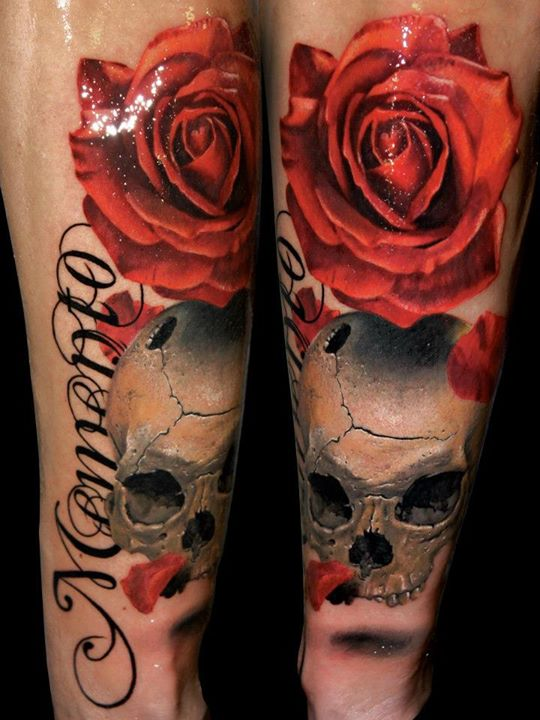 Skull Tattoos by Alex de Pase (2)