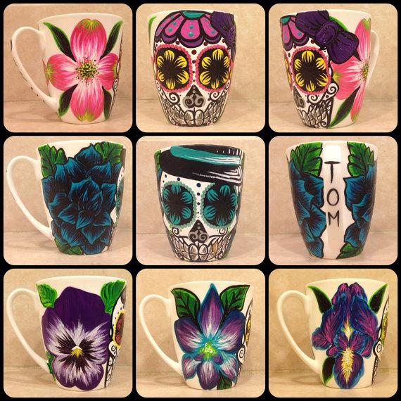 Sugar Skull Mugs (3)