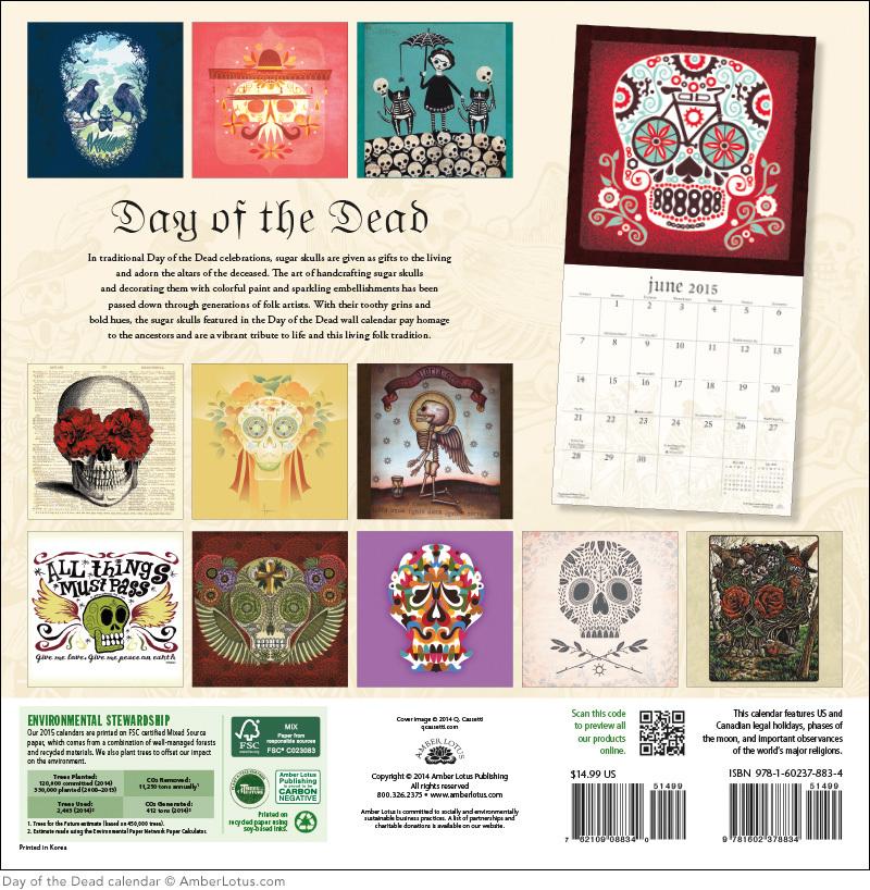 Sugar Skulls 2015 Wall Calendar (2)