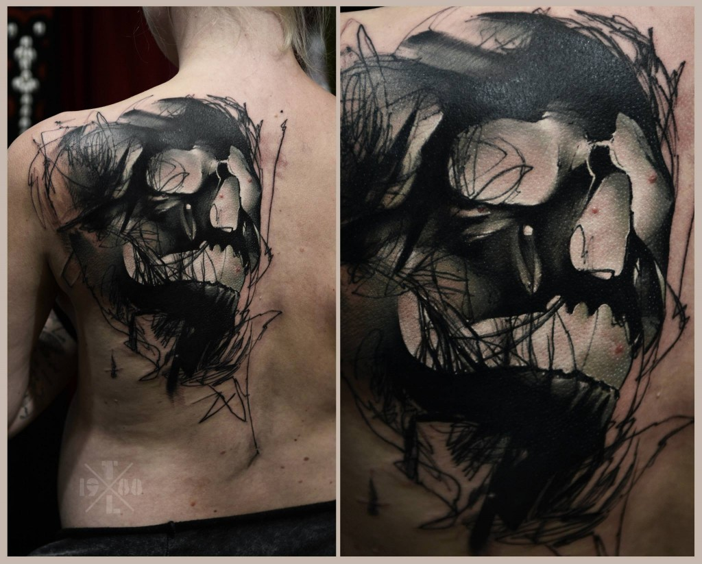 large skull tattoo