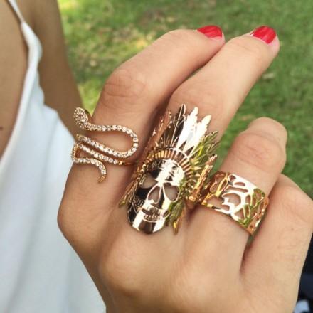Native American Skull Ring