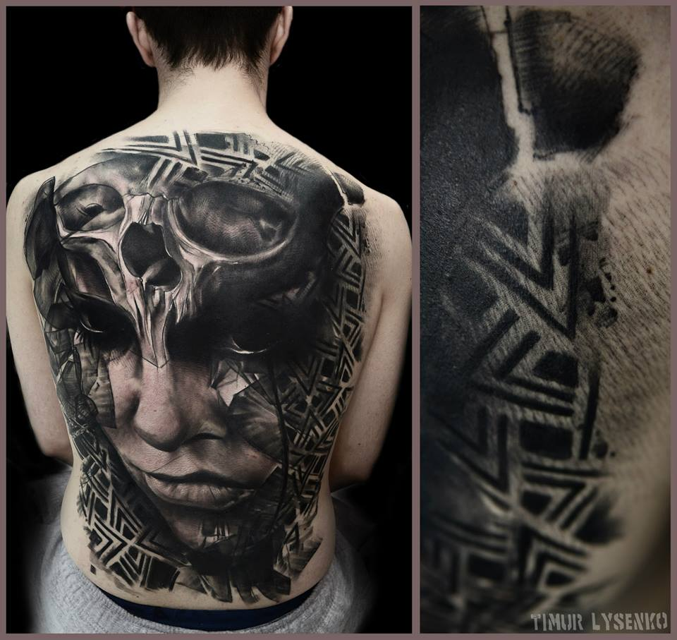 back tattoo Timur Lysenko