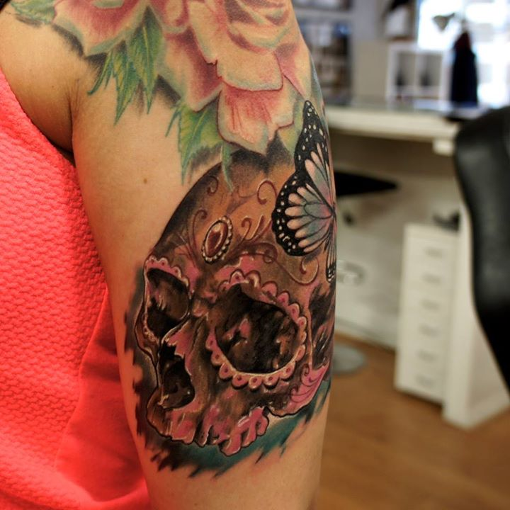 sugar skull tattoo (2)