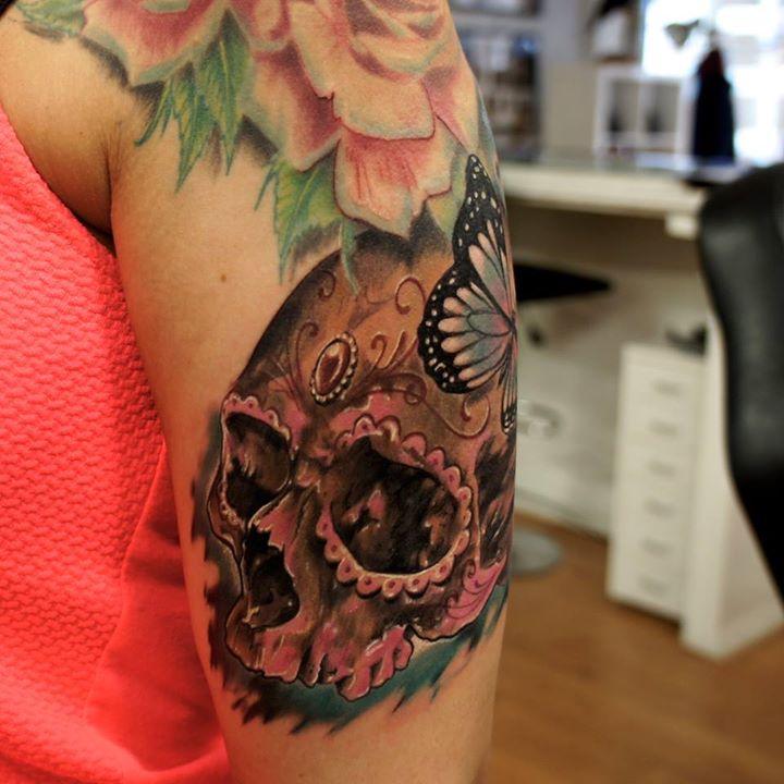 sugar skull tattoo (2)
