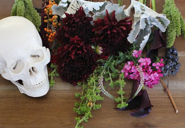 Floral Skull Centerpiece 1