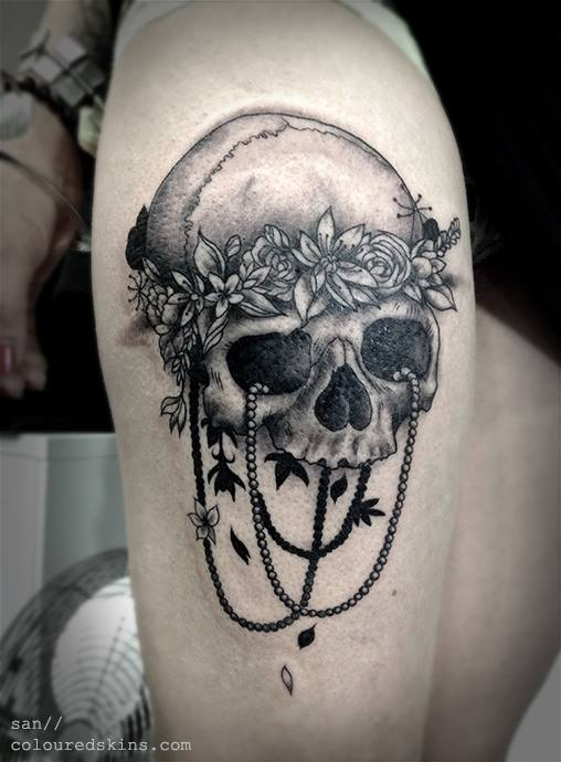 Skull tattoos by San from Coloured Skins
