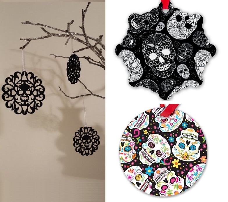 Christmas skull and skeleton decorations (2)