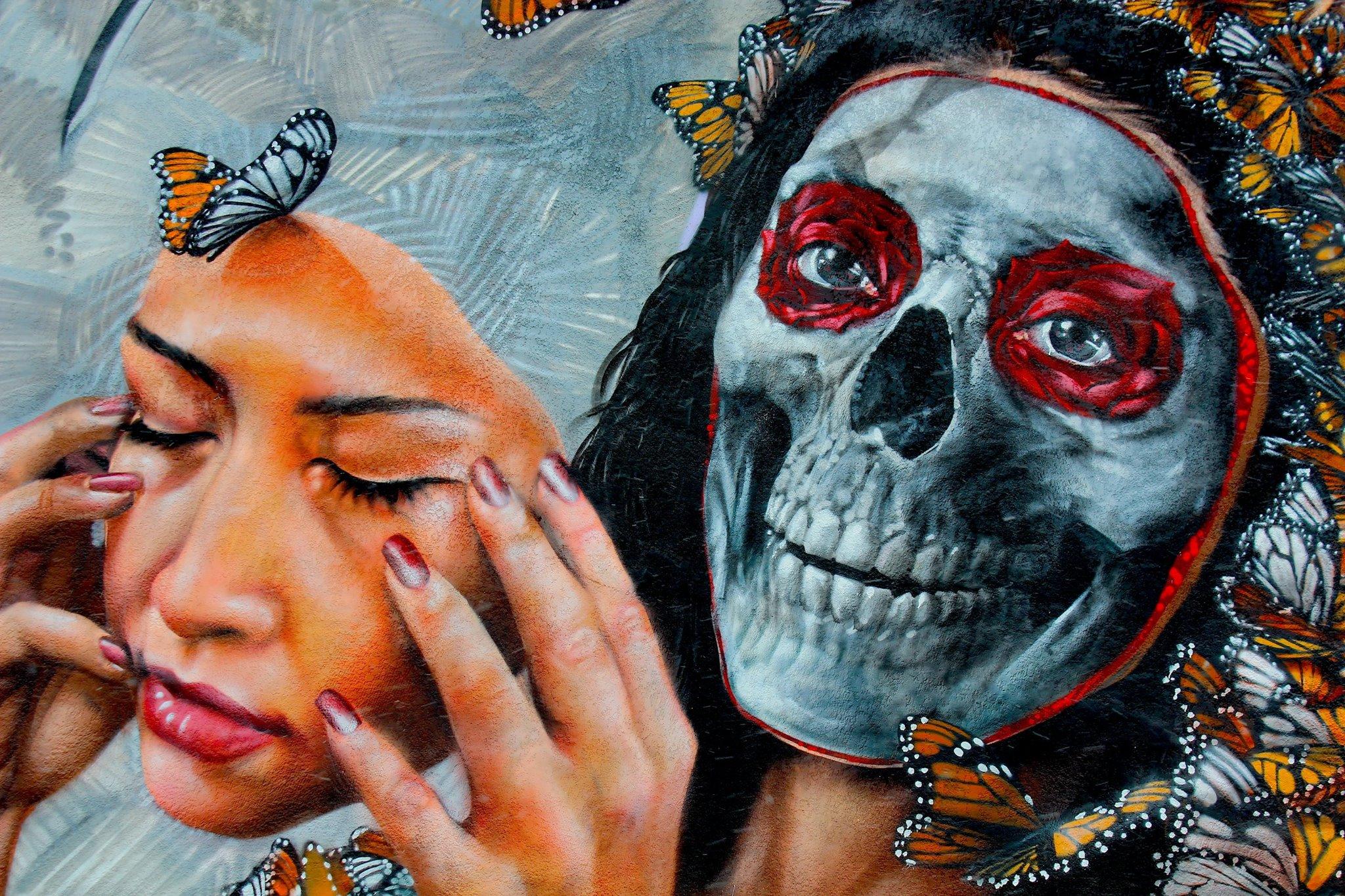 Dia De Los Muertos mural by Gamma Gallery 1