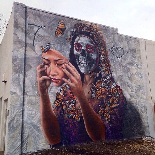 Dia De Los Muertos mural by Gamma Gallery