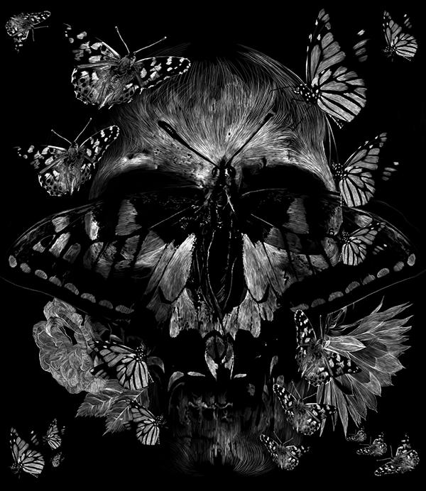 Skull Illustrations by Julien Lemoine (2)
