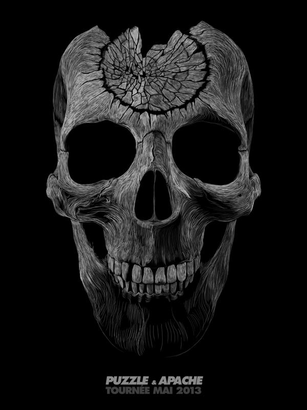 Skull poster by Julien Lemoine (2)