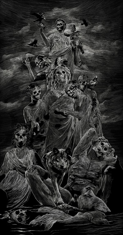 Skull poster by Julien Lemoine