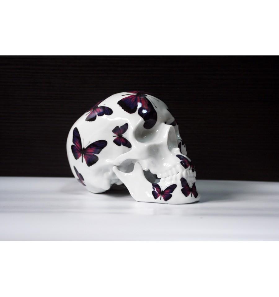 Skull Purple Butterfly By Noon (2)