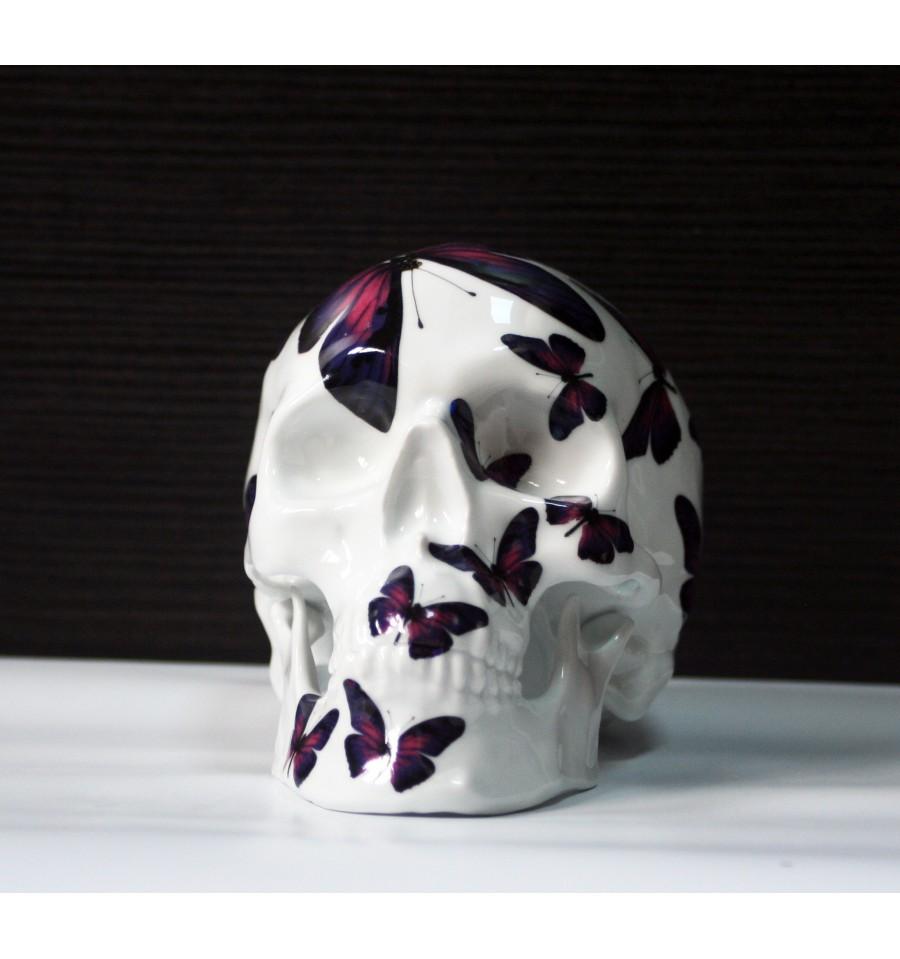 Skull Purple Butterfly By Noon (3)