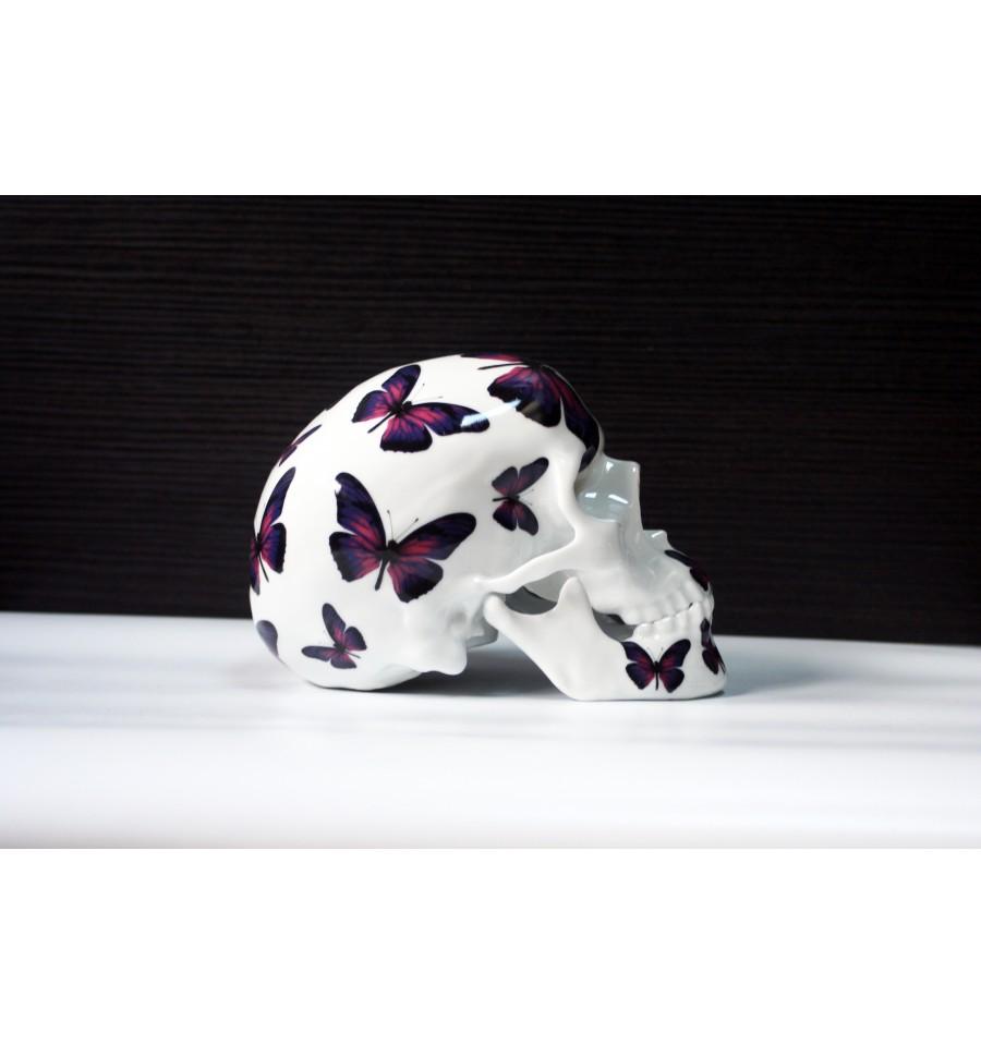 Skull Purple Butterfly By Noon