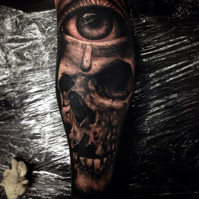 Skull Tattoo by Drew Apicture (2)