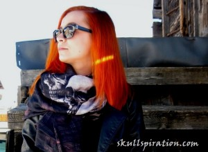 Scotland Skull Scarf by Sasha Berry