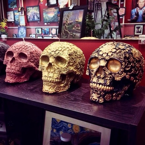Skull Candles by Dakota's Design